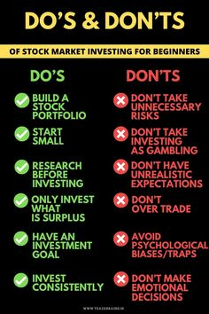 Do's and Don'ts of Stock Market Investing for Beginners - Finance tips, saving money, budgeting planner Learn Stock Market, Stock Market Basics, Stock Market For Beginners, Stock Market Investing, Stock Market Books, Stocks For Beginners, Investing Apps, Investing In Stocks, Dividend Investing
