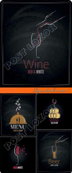 Logos drinks vector 6