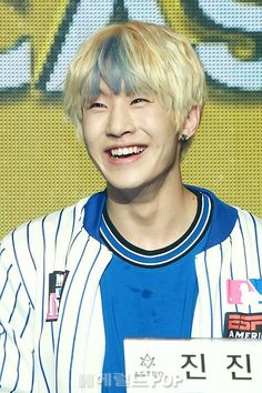 [22.02.16] Debut press conference....seriously Jinjin's eye smile is the best thing