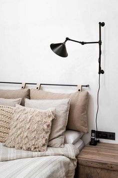Swing Arm wall light with wall plug. Great task light | Fat Shack Vintage Simple Apartment Decor, Small Apartment Decorating, Swing Arm Wall Light, Wall Plug, Task Lighting, Australia Living, Cafe Interior, Industrial Style, Light Fixtures