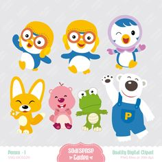 pororo clipart - Pesquisa Google Birthday Party Decorations, Party Themes, 3rd Birthday, Birthday Parties, Puppet Crafts, Mask Party, Childrens Party, Holidays And Events, Clipart