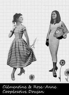Clémentine et Rose-Anne Page, créatrices de la coopérative Doujañ. Fabrication de couches lavables en coton bio en Bretagne.