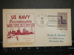 USS GOLDSBOROUGH DD-188 Naval Cover 1940 FDC Cachet COMMISSIONED