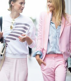 Zanita Morgan & Jessica Stein match in pastels // Photo: Adam Katz Sinding of Le 21ème