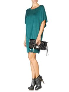 $198 DIESEL JEANS D GERTRUDE SM A TEAL BLUE DRESS BOXY WOMENS SIZE XS NWT #DIESEL #ShirtDress #Cocktail