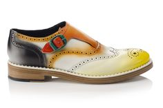 Men's Spring 2015 Accessories - Usually don't like the look of straps & buckles but with this very 'jazzy' shoe they they are OK !
