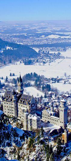 Neuschwanstein castle in Bavarian Alps, Germany | The 20 Most Stunning Fairytale Castles in Winter