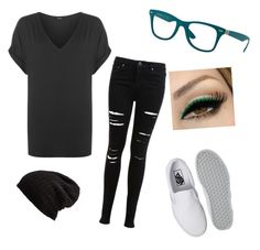 """""""Selene #3"""" by black-337 on Polyvore featuring WearAll, Miss Selfridge, Vans, Ray-Ban and Free People"""