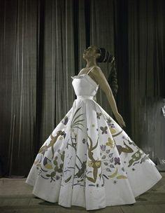 Josephine Baker, wearing a dress with herself on it.
