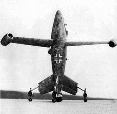Luftwaffe prototype The Focke-Wulf Triebflügeljäger, an experimental German vertical take-off and landing aircraft propelled by a three-bladed jet-powered rotor.