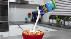 Cereal Gravity Defying Illusion cake