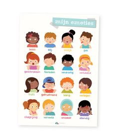 Educatieve poster, mijn emoties | Home | lesmaatje.nl Fun Rainy Day Activities, Outside Activities For Kids, Outdoor Games For Kids, Indoor Activities For Kids, Catapult For Kids, Wishes For Baby Cards, Educational Games For Kids, Toddler Books, Family Game Night