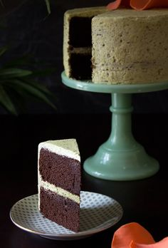 Chocolate Pistachio Pound Cake   The Patterned Plate