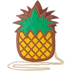 Nila Anthony Pineapple Bag (39 AUD) ❤ liked on Polyvore featuring bags, handbags, shoulder bags, faux leather crossbody purse, over the shoulder purse, over the shoulder handbags, brown purse and crossbody shoulder bags