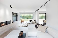 23 Inviting Beige Living Room Design Ideas to Bring a New Dimension to Your Home - The Trending House Bedroom Minimalist, Minimalist Home Interior, Home Interior Design, Minimalist House, Modern Home Interior, White House Interior, Exterior Design, Beige Living Rooms, Grey Bedrooms