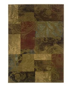 Take a look at this Green Chesapeake Rug by Oriental Weavers on #zulily today!