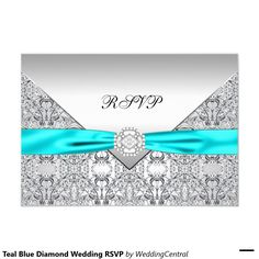 "Boda de diamante azul del trullo RSVP Invitación 3.5"" X 5"""
