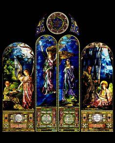 Helping Angel Window Panel by John La Farge. Photo ©2012, Detroit Institute of Arts