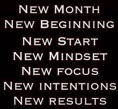 Novo mês. Novo começo. Novas ideias. Novo foco. Novas intenções. Novos resultados...  Vem com tudo ABRIL!!!!