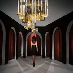La Lollo Suspension Lamp Designed by Lorenza Bozzoli, La Lollo animates any space with elegance and spontaneity, awakening memories of a past full of celebrity divas and limelight. Lamp Design, Ceiling Lights, Suspension Lamp, Home Decor, Centerpieces, Led Lights, Light, Chandelier, Slamp