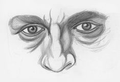 Drawing noses and eyes demo, step 2 lee hammond how to draw facial features Easy Drawing Steps, How To Make Drawing, Step By Step Drawing, Drawing Tips, Drawing Techniques, Drawing Ideas, Drawing Drawing, Art Kawaii, Manga Kawaii