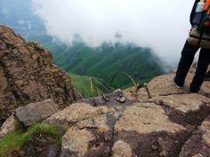 Chain ladders, Mont-aux-sources, Drakensberg, Royal National Park, KZN, South Africa.