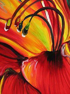 """Beloved Red Lily (detail 2)"" par Marcia Baldwin"