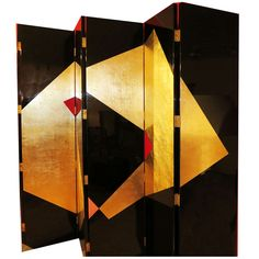 A Six-Panel Large Art Deco Lacquer Screen | From a unique collection of antique and modern screens at http://www.1stdibs.com/furniture/more-furniture-collectibles/screens/