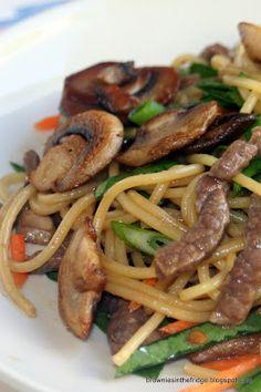 Brownies in the Fridge: Hoisin Beef with Noodles