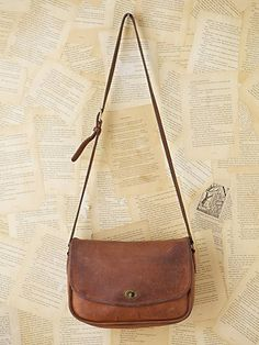 Cross Body Purse, brown leather cross body, saddle bag purse ...