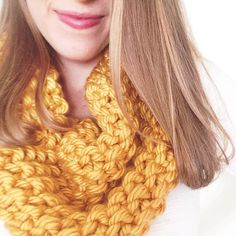 Chunky mustard cowl // Knitwear found at Provision Shop