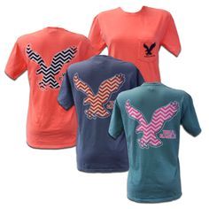 """Show off your Auburn pride in this chevron Comfort Colors tee for Royce Apparel. This shirt feels like you have owned it for years and is a comfortable classic! -100% ringspun cotton; preshrunk -Soft-washed -Garment-dyed fabric -Double needle-stitched sleeves, armholes, and bottom hem -Twill taped shoulder-to-shoulder -1"""" ribbed collar with double-needle top-stitched neckline -Left-chest pocket  #auburnuniversitybookstore"""