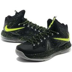 http://www.asneakers4u.com/ Nike LeBron 10 P.S. Elite Black/Fluorescent Green Sale Price: $76.00