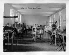 A nurse and doctor at work on a patient ward at U. Army Base Hospital No. The Mount Sinai Hospital sponsored this unit in World War I. It was located at Vauclaire Monastery in Montpon, Mount Sinai Archives. History Of Nursing, Mount Sinai, Army Base, World War I, Nurses, The Unit, France, World War One, Being A Nurse