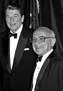 With Milton Friedman   President reagan, 40th president, Reagan