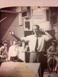 Happt boo Producer, George Martin and The Beatles recording All You Need Is Love, Beatles Love, Les Beatles, Beatles Photos, 5th Beatle, Sir George Martin, Liverpool, George Harrison, The Fab Four, Rock Music
