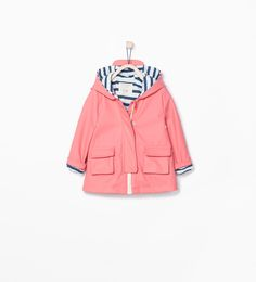 Image 2 of RAINCOAT WITH STRIPED LINING from Zara