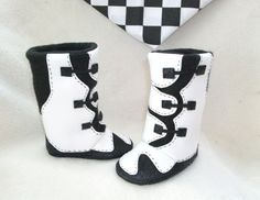 Baby boy or girl baby boots baby shoes MX motocross by Tooksberry, $60.00