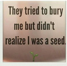 EVER HEAR OF PRESIDENT NELSON MANDELA OR THE REVEREND MARTIN LUTHER KING JR ? YOU ARE A SEED TOO !
