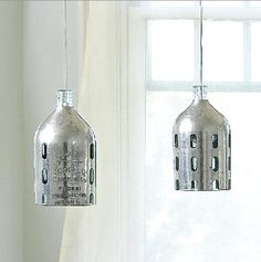 Tin-coated seltzer bottles.