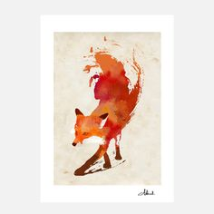 Vulpes Vulpes Print 70x100, 140€, now featured on Fab.