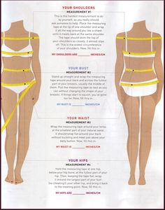 Body measurements you should take to make your sewing life easier!