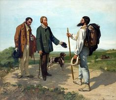 The Meeting, 1853 by Gustave Courbet