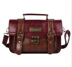 Preppy Style Women Briefcase Classic Mori Girl Women Leather Satchel Handbags Leisure Portable Women Messenger Bags