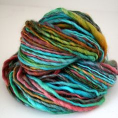 Mood Ring yarn. I love these colors and how they blend together.