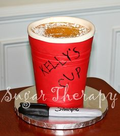 Red SOLO cup cake! — Food