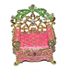 Large Chair Trinket Box in Pink and Green  $34.99 www.Cute-Boxes.com