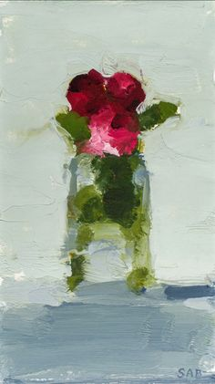 Check out the beautiful simplicity of still life painter, STANLEY BIELEN b. Abstract Flowers, Abstract Art, Arte Floral, Art Graphique, Painting Inspiration, Flower Art, Painting & Drawing, Cool Art, Drawings
