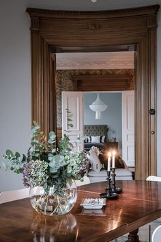 My jaw-dropped when I stumbled upon this Swedish apartment. The space is simply incredible. Vintage wallpaper from times gone by, wooden w...