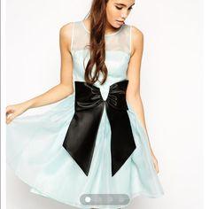Nwot Asos Skater Dress With Bow